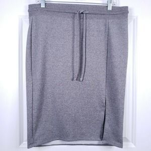 Torrid Pencil Skirt 0 0X French Terry Knit Gray